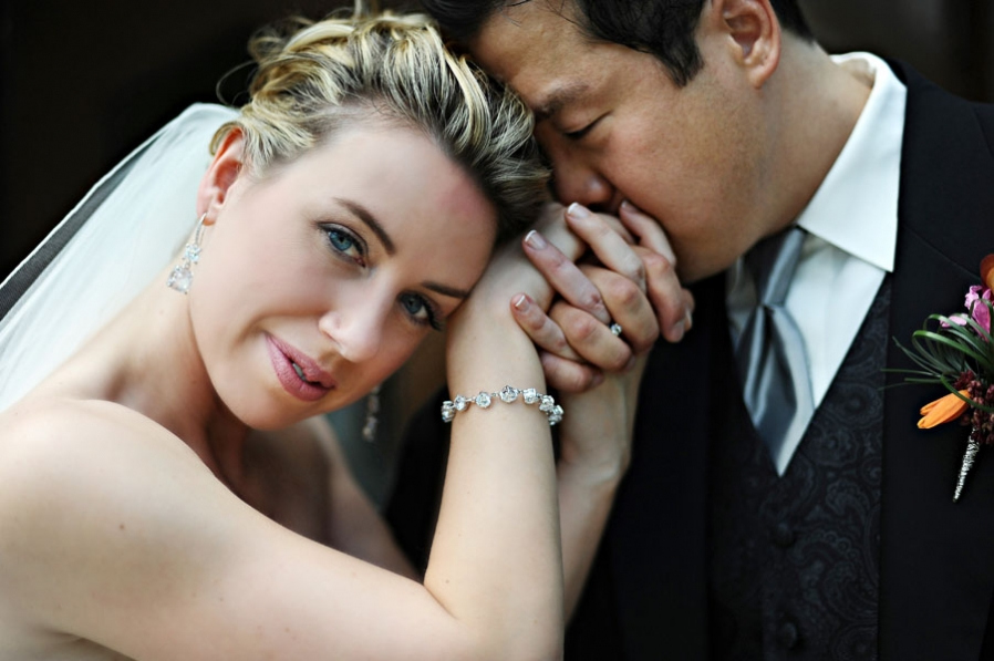 old hollywood glam wedding korean wedding bride and groom