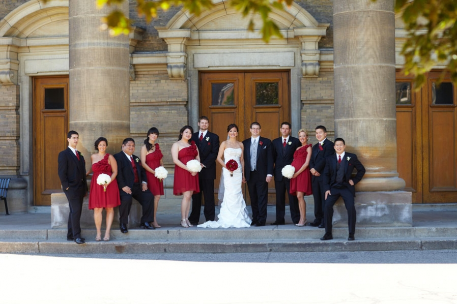 palais royale outdoor tent chinese wedding university of toronto red bridal party