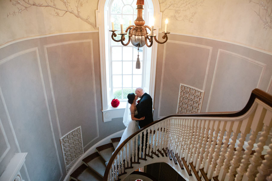 estates of sunnybrook mclean house staircase kiss