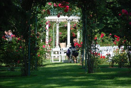 lyndhurst rose garden castle outdoor wedding