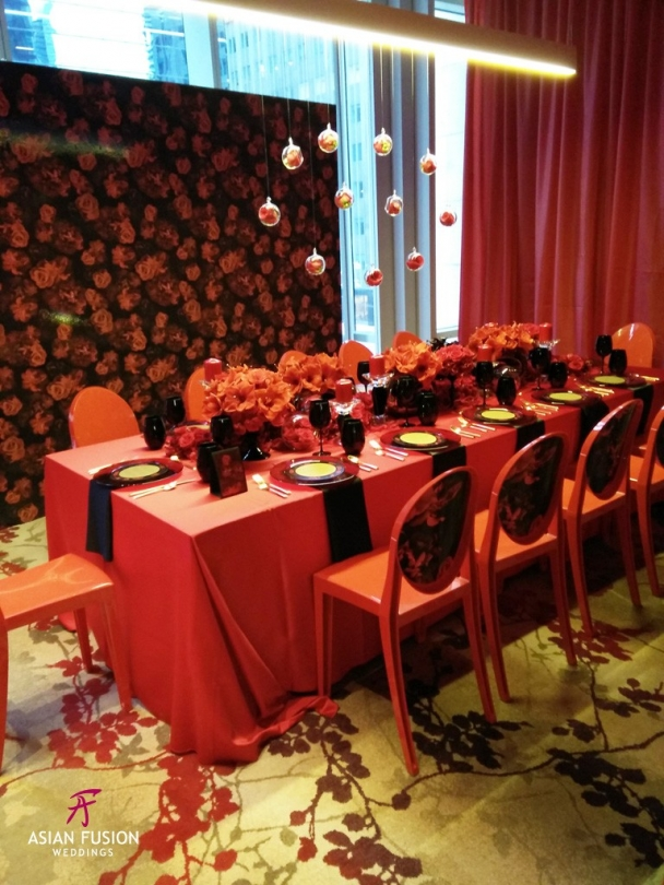 fete chinoise red rose room A