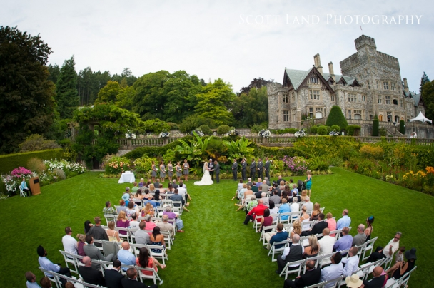 hatley-castle-wedding-photography ceremony outdoors