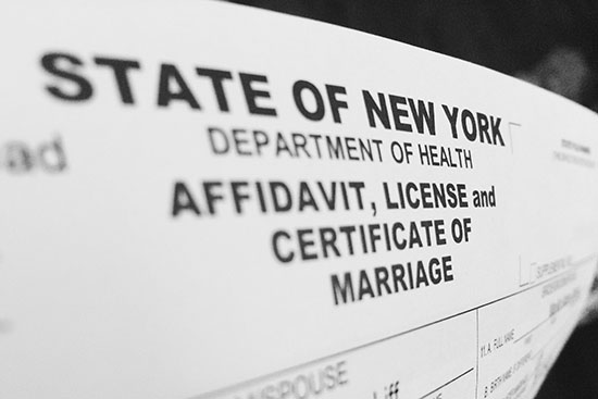 new york marriage license